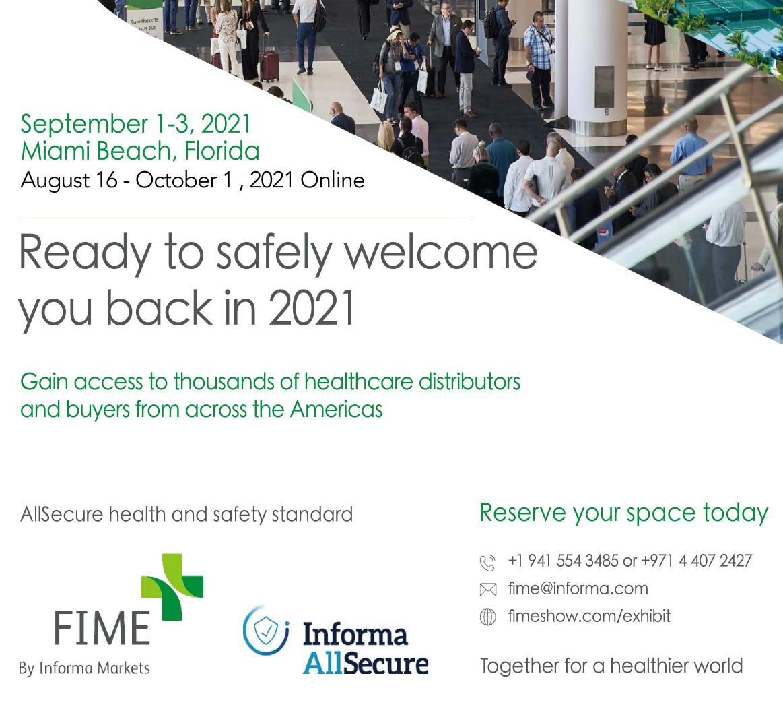 2021-FIME-美國邁阿密展9月1-3日,線上展8月2日-10月1日