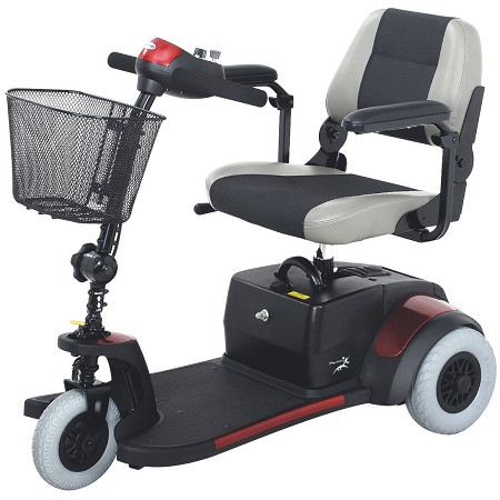 Merits Deluxe 3-Wheeled Mini Scooter