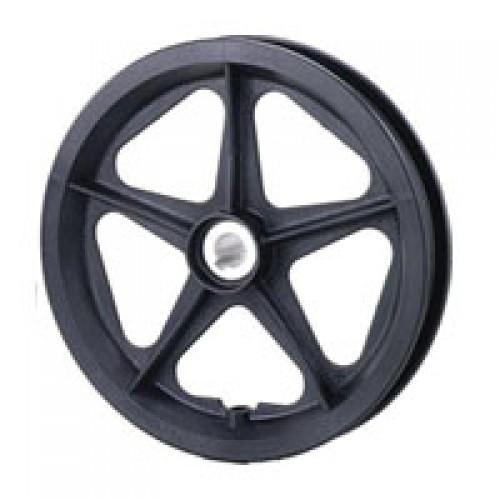 "12"" Plastic Wheel With Keyway Hub"