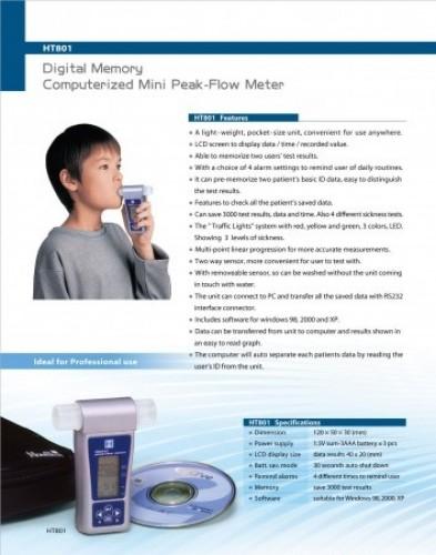 Digital Memory Computerized Mini Peak Flow Meter