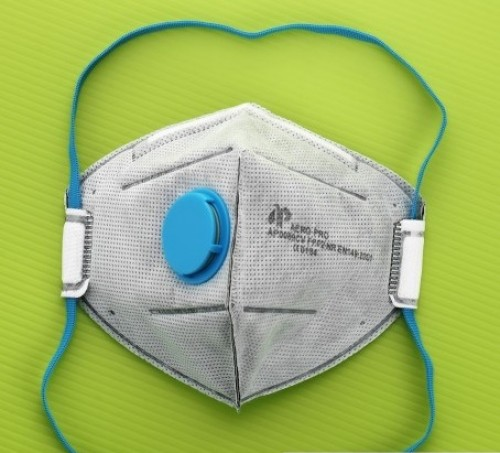 EN149:2001+A1:2009 FFP1 NR Valved Vertical Foldable type Respirator with Activated Carbon