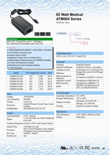 65 Watt Medical Adapter
