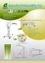 Foldable patient lift