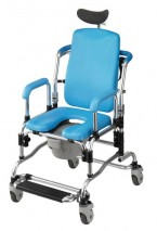 RECLINING SHAMPOO COMMODE CHAIR