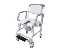 FLIP ARM COMMODE SHOWER CHAIR
