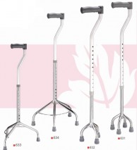 Aluminum Quad Cane with T/Offset Handle