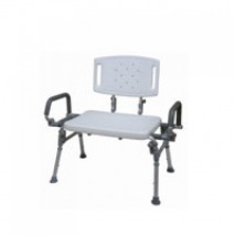 Bariatric Foldable Shower Bench with Flip-up Armrest