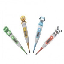 Flexible cartoon head digital thermometer