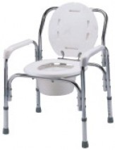 Deluxe Aluminum Commode with High Backrest