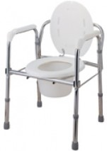 Steel Folding Commode with Backrest