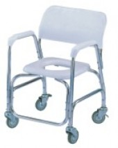 Deluxe Aluminum Shower Chair With Swivel Caster