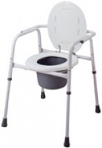 3 in 1 Steel Powder Coated Commode Chair