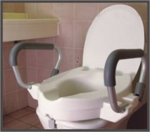 Flip Arm Raised Toilet Seat