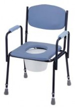 Deluxe Steel Commode Chair