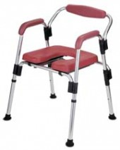 Aluminum Folding Commode Chair