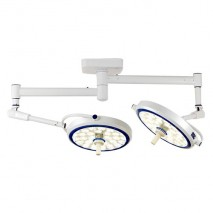 (LED) COOLED SURGICAL LIGHT - SLJ SERIES (Ceiling-Mounted Type) Dual Cupola