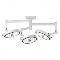 (LED) COOLED SURGICAL LIGHT - SLJ SERIES (Ceiling-Mounted Type) Triple Cupola