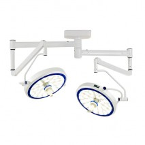 (LED) COOLED SURGICAL LIGHT - SLK SERIES (Ceiling-Mounted Type) Dual Cupola, Modern Arm