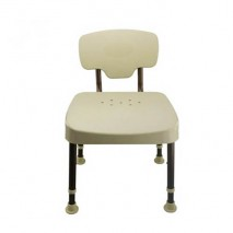 Healthcare sower chair with back