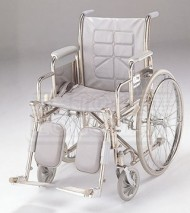 Economy Folding Commode Wheelchair