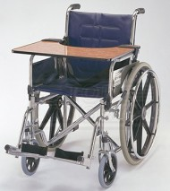 Wooden Table attached on Wheel Chair