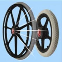 Nylon plastic wheel