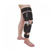 Adjustable length knee ROM splint