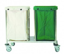 Linen Hamper Cart (Double)