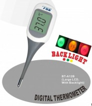 Flexible digital thermometer with big LCD
