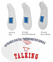 Talking Infrared Ear & Forehead thermometer provides