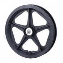 "12"" Plastic Wheel With Keyway Hub"