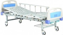 Two-crank manual hospital bed