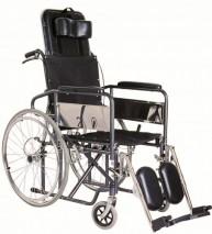 Steel reclining wheelchair