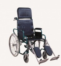 Steel reclining wheelchair