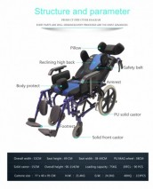 TOPMEDI Reclining Folding Aluminum Manual wheelchairs for cerebral palsy children sale