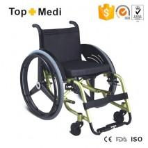 TOPMEDI high end Carbon fiber rear wheel wheelchair manul wheelchair