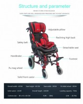 Topmedi high back reclining manual children wheelchair prices