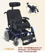 Topmedi Rehabilitation therapy supplies Aluminum Frame Back Reclining High Back Power Electric Wheelchair for disabled
