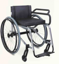 Durable comfortable topmedi leisure and sports wheelchair for fencing TLS766LQ-36