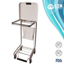 Chrome Hamper Cart