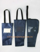 Bags for cane/walking sticks, nylon with hand straps