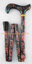 Regular Folding Walking Cane / Walking Sticks, 4-part Foldable