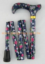 Mini Foldable Walking Cane / Walking Stick, 5-part Folding