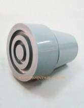 Rubber Ferrules, grey 22mm