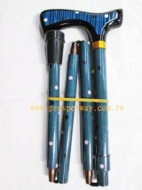 Regular Folding Walking Cane / Walking Stick, 4-part Foldable